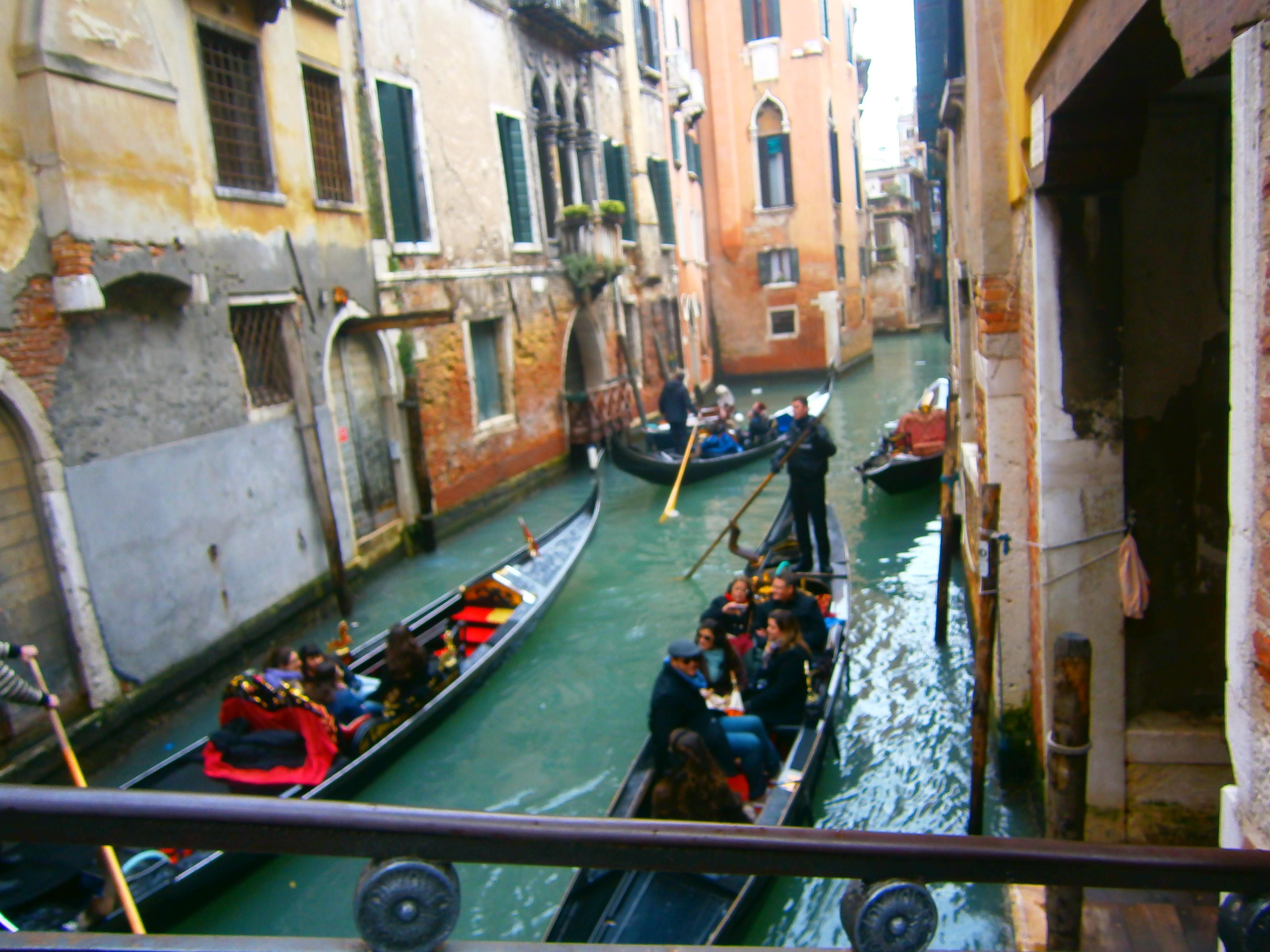 Gondolas in a Canal